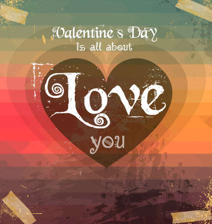 valentine s card: Valentines Day template with stunning hearts and colors for your flyer backgrounds.