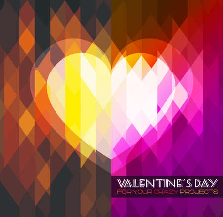 Valentine's Day template with stunning hearts and colors for your flyer backgrounds. Stock Vector - 25068639