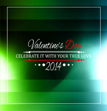 Valentine's Day template with stunning hearts and colors for your flyer backgrounds. Stock Vector - 25548040