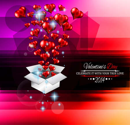 Modern stylish Valentine's Day template for your flyer backgrounds. Stock Vector - 25548118