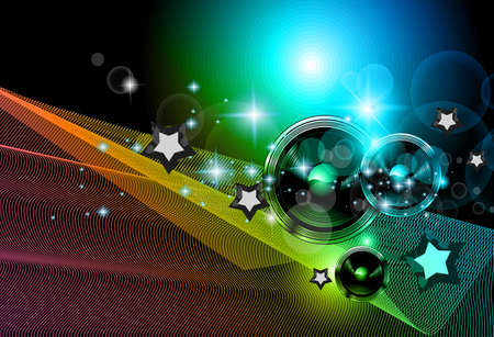 2014 New Years Party background for Club Flyers! Attractive design with rainbow colours. Vector