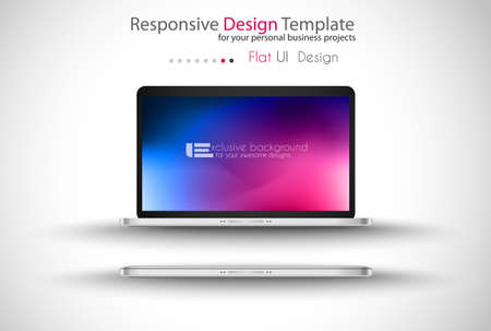 Website template for corporate business and cloud purposes  Ideal for company blogs with high class presence  Vector