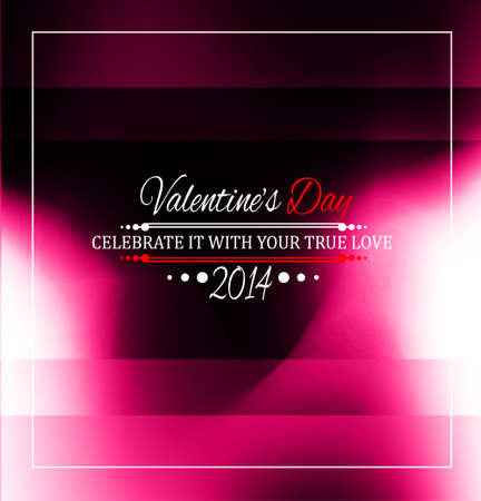 Valentine's Day template with stunning hearts and colors for your flyer backgrounds. Stock Vector - 25549423