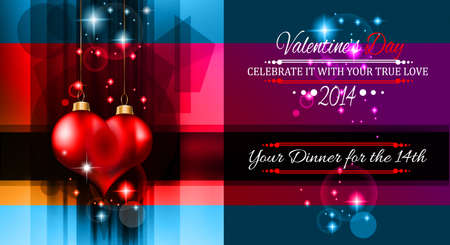 Valentine's Day template with stunning hearts and colors for your flyer backgrounds. Stock Vector - 25549450