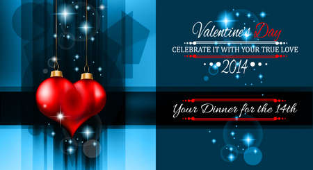 Valentine's Day template with stunning hearts and colors for your flyer backgrounds. Vector