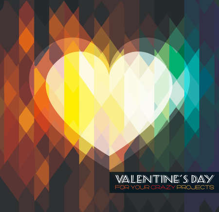 valentine s day background: Modern stylish Valentines Day template for your flyer backgrounds.