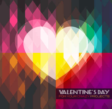 Modern stylish Valentine's Day template for your flyer backgrounds. Vector