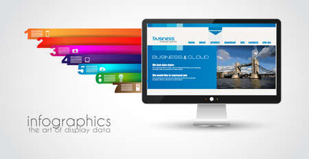 Modern devices mockups fpr your business projects. webtemplates included. Vector