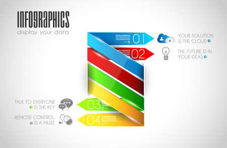 Original Style Infographics Templates to display your data.  Vector