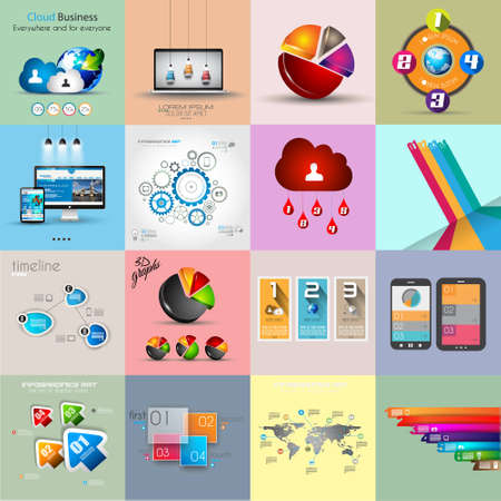 Infographic template collections with a lot of different design elements to use to display your statistic data and so on. Vector