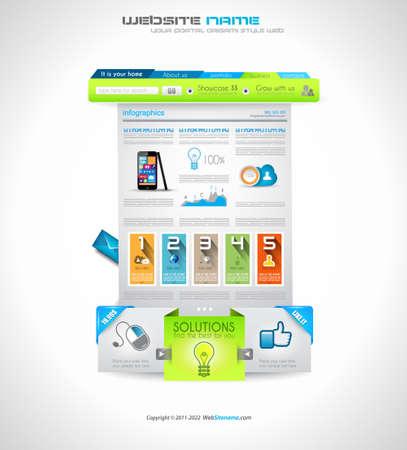 presencia: Plantillas de sitio web para fines comerciales y de nube corporativos Ideal para blogs de la compa��a con presencia de clase alta