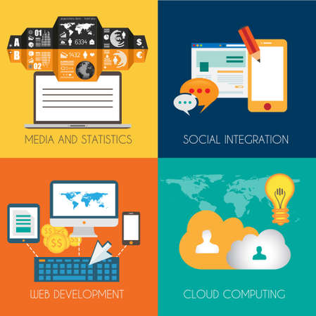 mobile advertising: Flat Style Diagram, Infographic and UI Icons to use for your business project, marketing promotion, mobile advertising, research and money analytics.
