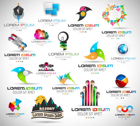 Collection of 17 high Quality Abstract Design Elements to use in your project. Vector