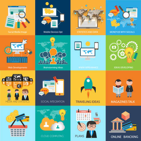 mission: Flat Style Diagram, Infographic and UI Icons to use for your business project, marketing promotion, mobile advertising, research and money analytics.