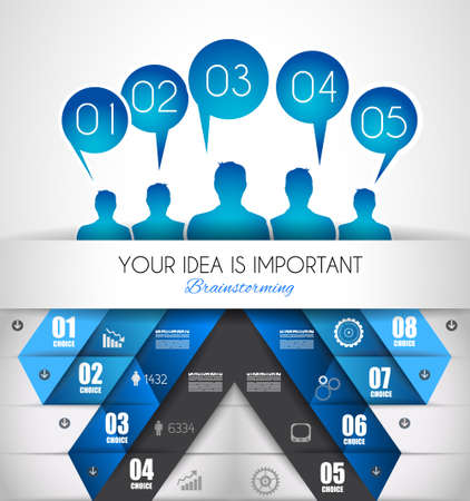 orginal: Infographic design template with paper tags. Idea to display information, ranking and statistics with orginal and modern style.illustration; design;