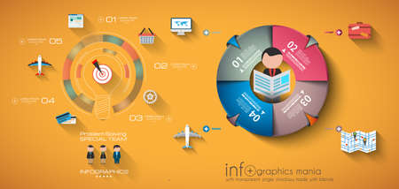 Timeline Infographic design template.  . Idea to display information, ranking and statistics with orginal and modern style. Vector