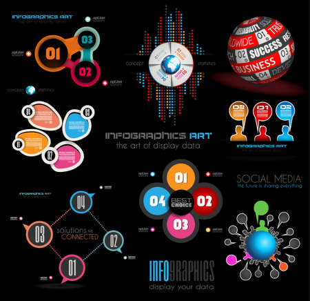 analisys: Collection of quality Infographics background. A lot of different templates ready to display your data.
