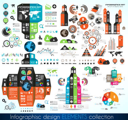 infographics template: Timeline Infographic design template.  With paper tags. Idea to display information, ranking and statistics with orginal and modern style.