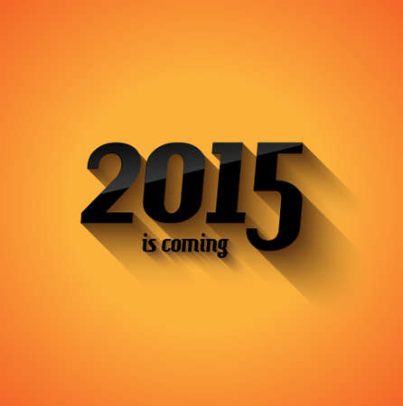Modern Style 2015 New Year is coming background with blend shadow. Ready to copy and paste on every surface. Vector