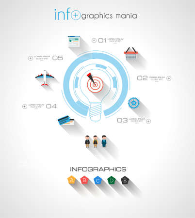 mechaninc: Modern Infographic template with Flat UI style Illustration