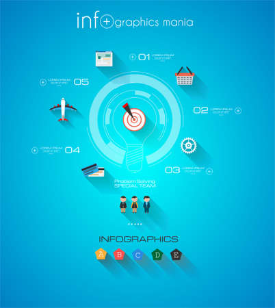 mechaninc: Modern Infographic template with Flat UI style.