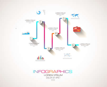 Modern Infographic template with Flat UI style. Vector