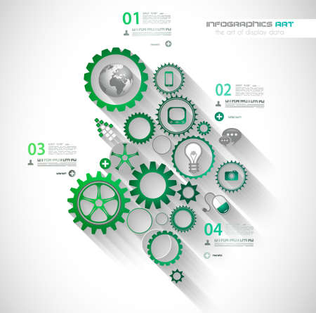 Flat UI design concepts for unique infographics, seo, web template branding. Concepts e�ements for web banners and brochure or covers. Illustration