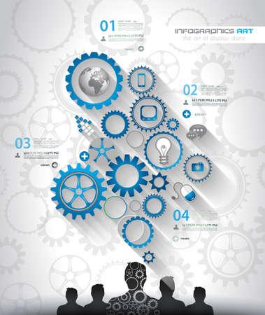 Social Media und Cloud-Konzept Infografik Hintergrund mit einer Menge von Icons für SEO, Werbebanner, Bezugsmaterialien oder Branding Broschüren