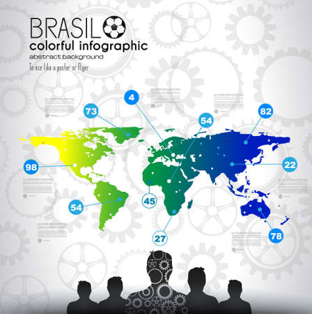 brasil: Brasil soccer abstract background for posters, covers or flyers. Illustration