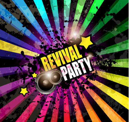 Music Club background for disco dance event with a lot of design elements. Ideal for posters, flyers and advertising panels. Vector