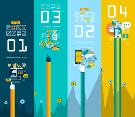 mobile advertising: Flat Style UI Icons to use for your business project, infographics, marketing promotion, mobile advertising,seo, research and analytics. Illustration