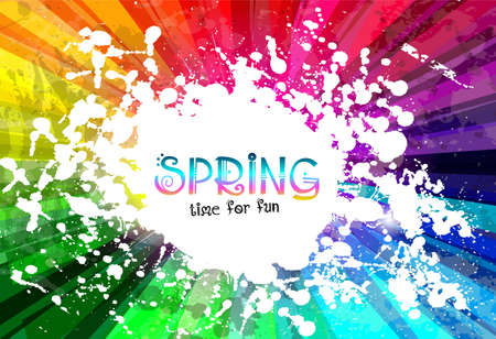 Spring Colorful Explosion of colors background for your party flyers, posters or brochure backgrounds Vector