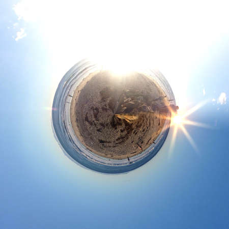 Abstract globe with a natural landscape view Stock Photo - 29912055