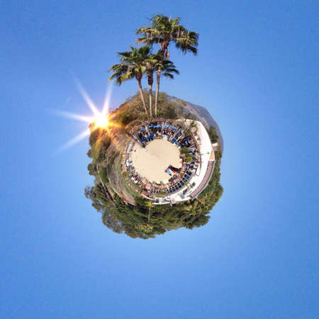 dun: Abstract globe with Natural landscape view