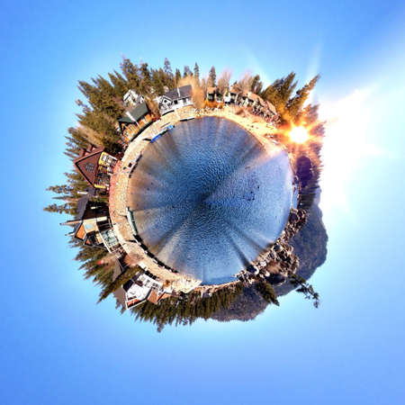Abstract globe with Natural landscape view Stock Photo - 29949531