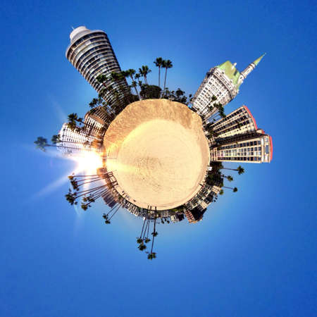 abstract: Abstract globe with Natural landscape view