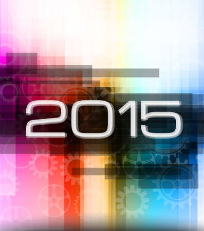 2015 high tech new year background for seasonal event poster or for your business project. Vector