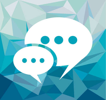 Comic Speech Bubble over a hipster blue tone background with white space for your text. Vector