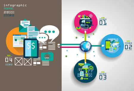 mobile advertising: Flat Style Infographic UI Icons to use for your business project, marketing promotion, mobile advertising,seo, research and analytics.
