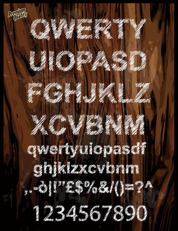 fx: Scribble alphabet with pen sketch  effect. Uppercase, numbers and all symbols included.