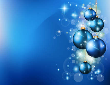 2015 Christmas Colorful Background with a waterfall of ray lights and a lot of baubles and stars. Vector
