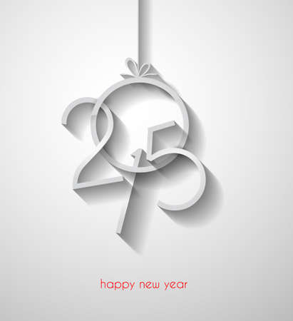 bonne ann�e: Originale 2015 happy new year background moderne avec le texte de style plat et des ombres douces.