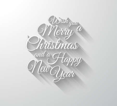 Joyeux Chrstimas Retro Typographie slogan avec de longues ombres. Les ombres sont transparentes si prêt à copier sur toutes les surfaces. Banque d'images - 32023408