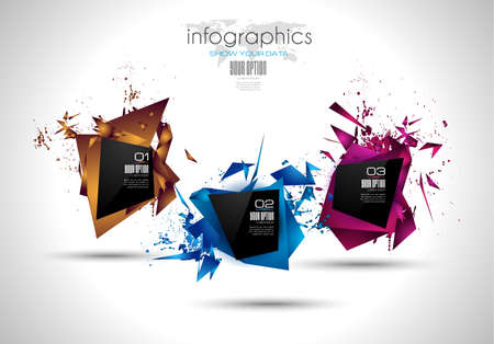 product display: Modern Abstract Infographic template to display data, product ranking, services classification, statistics display,results and so on.