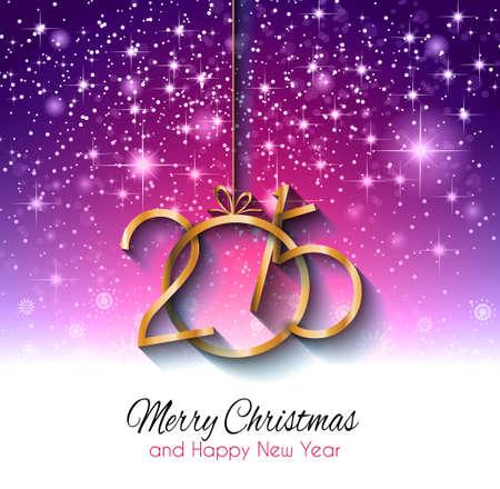 graphic card: Christmas Card di auguri di Buone Feste e nuovi volantini anno. Vettoriali