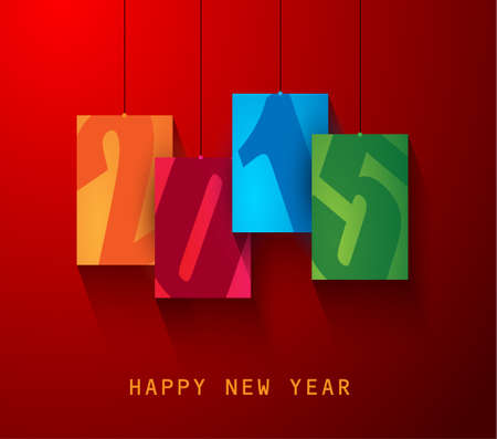 2015 New year original modern background template for invitations, seasonal cards, event posters, new year backgronds and so on. Vector