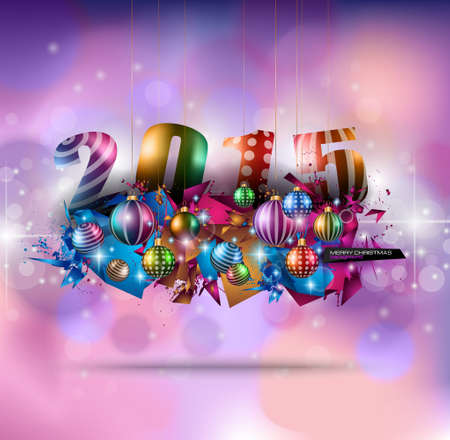 Christmas Greeting Card for happy Holidays and new year flyers. Vector