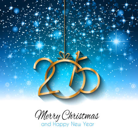 nieuwjaar: 2015 Nieuw jaar originele moderne achtergrond sjabloon voor uitnodigingen, seizoensgebonden kaarten, event posters, nieuw jaar backgronds en ga zo maar door.