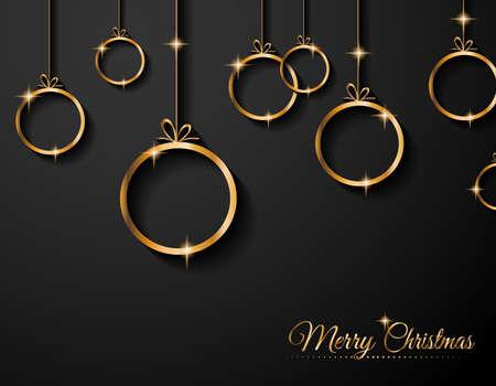 weihnachten gold: Weihnachtsgru�karte f�r Frohe Feiertage und Neujahr Flyer.