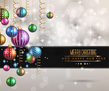 Christmas original modern background template for invitations, seasonal cards, event posters, new year backgronds and so on. Vector